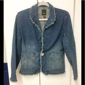 Awesome Worn Brand raw edged jean jacket